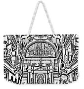 Inside St Louis Cathedral Jackson Square French Quarter New Orleans Photocopy Digital Art Weekender Tote Bag by Shawn O'Brien