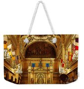 Inside St Louis Cathedral Jackson Square French Quarter New Orleans Poster Edges Digital Art Weekender Tote Bag by Shawn O'Brien