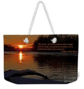 Inspirational Sunset With Quote Weekender Tote Bag