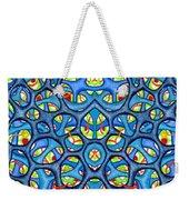 Interconnection In Blue Design Weekender Tote Bag