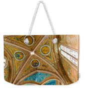 Interior St Francis Basilica Assisi Italy Weekender Tote Bag by Jon Berghoff