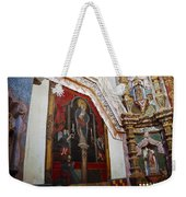 Interior Wall San Xavier Del Bac Mission Weekender Tote Bag