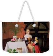 Interior With Figures And Fruit Weekender Tote Bag
