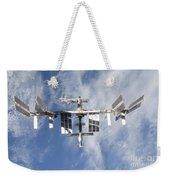 International Space Station Backdropped Weekender Tote Bag