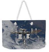 International Space Station Backgropped Weekender Tote Bag