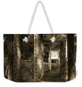Into The Butterfly Garden Sepia Weekender Tote Bag