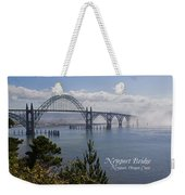 Into The Fog At Newport With Text Weekender Tote Bag