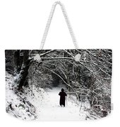 Into The Snowy Forest Weekender Tote Bag