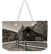 Involved In One's Work Sepia Weekender Tote Bag