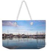 Ipswich Marina Dusk Weekender Tote Bag