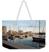 Ipswich Marina Sunset Weekender Tote Bag
