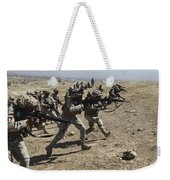 Iraqi Army Soldiers Move To Positions Weekender Tote Bag