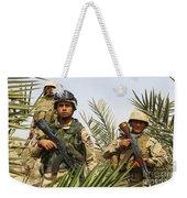 Iraqi Soldiers Conduct A Foot Patrol Weekender Tote Bag