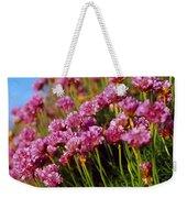 Ireland Close-up Of Seapink Wildflowers Weekender Tote Bag