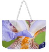 Iris Close Up Blue And Gold Weekender Tote Bag