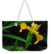 Iris In Yellow Weekender Tote Bag