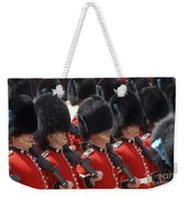 Irish Guards March Pass During The Last Weekender Tote Bag by Andrew Chittock