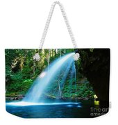 Iron Creek Falls From The Side  Weekender Tote Bag