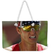 Ironman On The Run Weekender Tote Bag by Bob Christopher