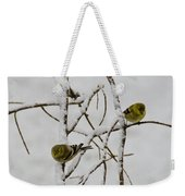Is It Snowing On Your Side Weekender Tote Bag