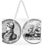 Isaac Hull: Medal Weekender Tote Bag