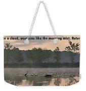 Isaiah 44 22 Weekender Tote Bag