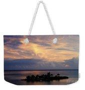 Island At Sunset Weekender Tote Bag