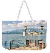 Island San Giulio On Lake Orta Weekender Tote Bag