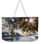 Islands On A Lake In Autumn Weekender Tote Bag