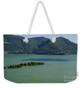 Islands On An Alpine Lake With A Shadow Weekender Tote Bag