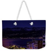 Istrian Riviera At Night Weekender Tote Bag