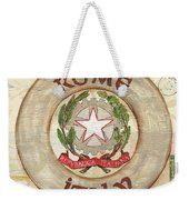 Italian Coat Of Arms Weekender Tote Bag