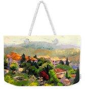 Italian Hillside Village Oil Painting Weekender Tote Bag
