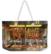 Italian Market Butcher Shop Weekender Tote Bag