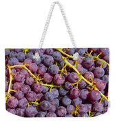 Italian Red Grape Bunch Weekender Tote Bag