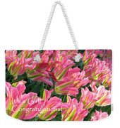 It's A Girl. Congratulations Weekender Tote Bag