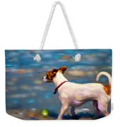 Jack At The Beach Weekender Tote Bag by Michelle Wrighton