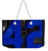 Jackie Robinson 42 Weekender Tote Bag by Rob Hans