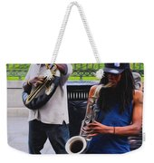 Jackson Square Jazz Weekender Tote Bag