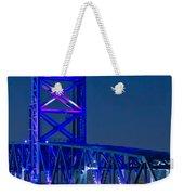 Jacksonville Skyline Weekender Tote Bag by Debra and Dave Vanderlaan