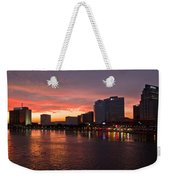Jacksonville Skyline Night Weekender Tote Bag