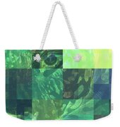 Jaguar Graph Geo Green Weekender Tote Bag