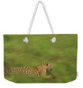 Jaguar Panthera Onca Running Weekender Tote Bag