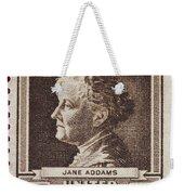 Jane Addams Postage Stamp Weekender Tote Bag