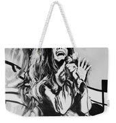 Janis In Black And White Weekender Tote Bag