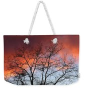 January Sunset Silhouette Weekender Tote Bag