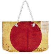 Japan Flag Postcard Weekender Tote Bag