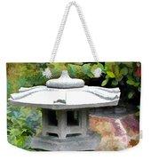 Japanese Garden Stone Snow Lantern Weekender Tote Bag