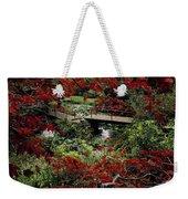 Japanese Garden, Through Acer In Weekender Tote Bag