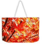 Japanese Maple Leaves 12 In The Fall Weekender Tote Bag